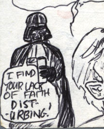 vader drinking coffee comic detail
