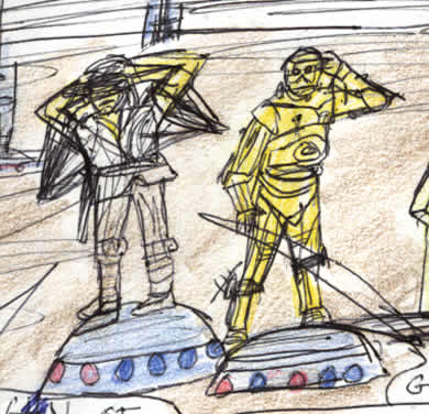 luke and threepio search for R2-D2