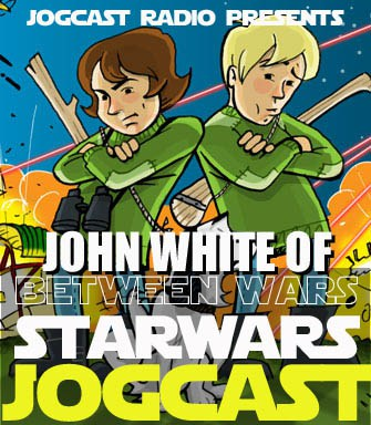 Graphic for John White and Between Wars comic on Star Wars JogCast radio network