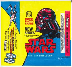 wax star wars trading card wrapper