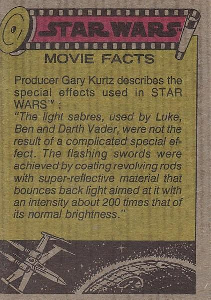 star wars trading card movie facts
