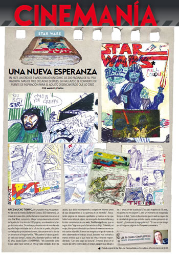 cinemania page about Star Wars age 9 comic