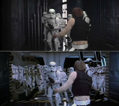Han Solo runs into a dead end - packed with Stormtroopers!