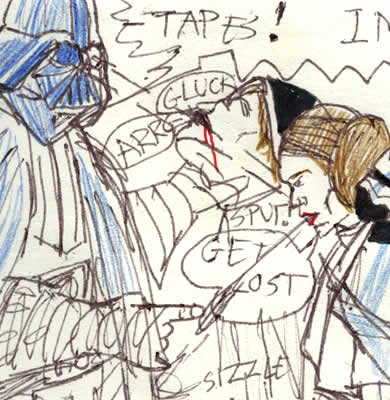 Leia spits on vader comic image