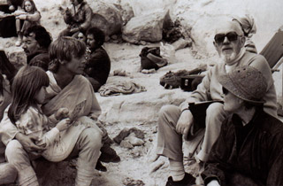 alec guinness and mark hamill on location in tunisia