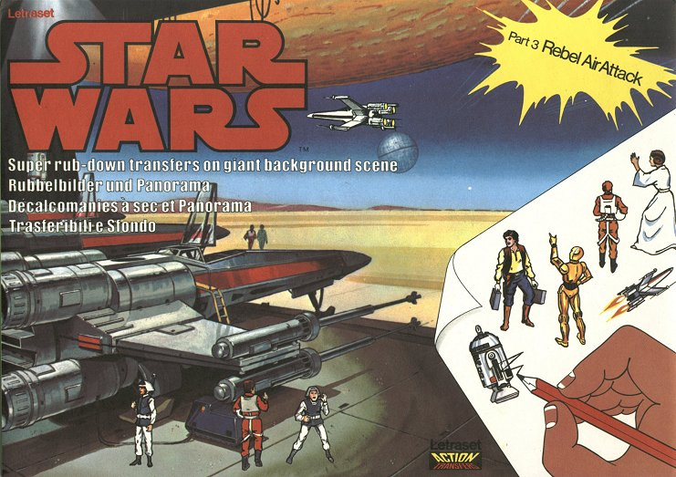 Letraset star wars rub-on transfer set