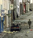 bombed street northern ireland