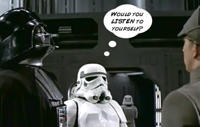 vader confusing his staff