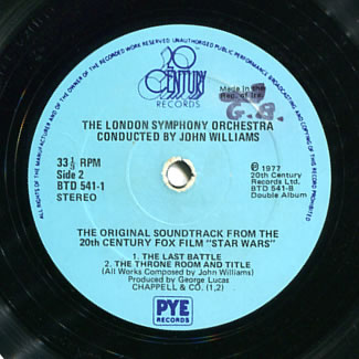 1978 soundtrack album label