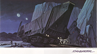ralph mcquarrie's painting of the sandcrawler