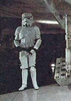 stormtrooper guarding the falcon