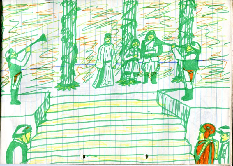 throne room scene star wars. Kid's drawing