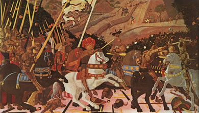 paolo uccello's battle of san romano painting