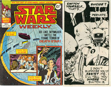 war toy star wars weekly comic