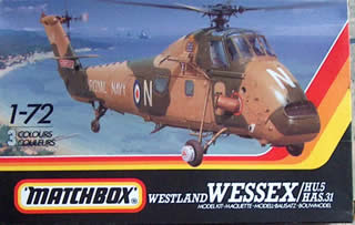 matchbox model of a westland wessex helicopter