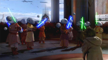 jedi younglings being trained. Stupid.