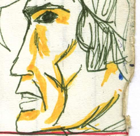 Han Solo drawn by a 10 or 11 year old in the late seventies