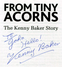 Kenny's lovely autograph