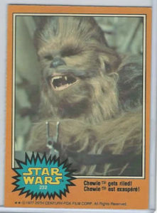 chewie trading card
