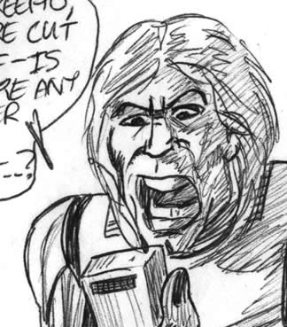 Big mouth Luke Skywalker comic image!