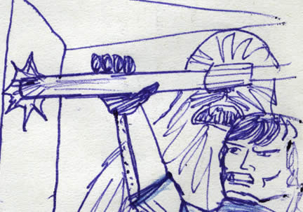 han solo in the trash compactor comic page detail