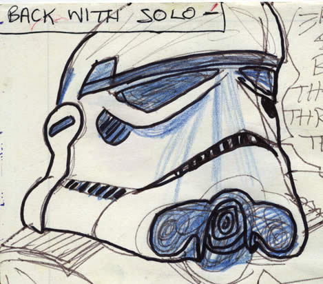 stormtrooper star wars comic page detail