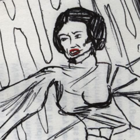 Princess Leia with big boobs comic page detail image