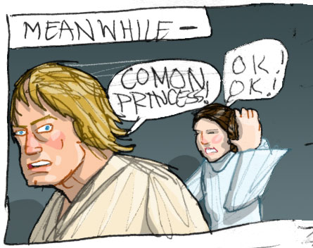 special edition version of part of my star wars comic page