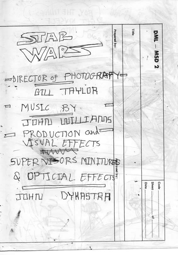 star wars production credits image
