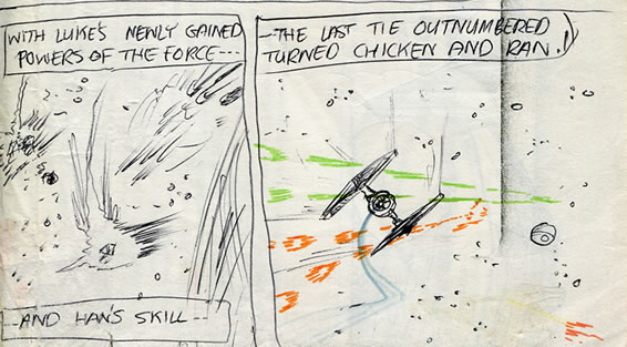 tie fighter comic page detail image