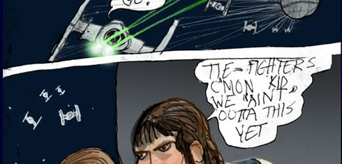 Special Edition version of a Star Wars age 9 comic page