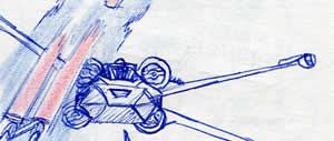 X-Wing fighter star wars comic page detail image