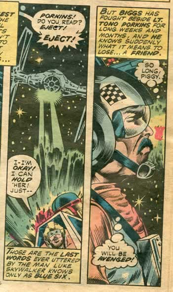 Detail from MArvel's Star Wars comic of 1977