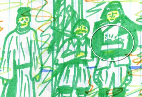 throne room scene star wars (Kid's drawing—detail)