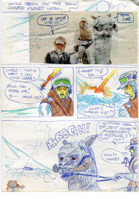 Luke and Han are on patrol with their tauntauns on Hoth--Star Wars comic page