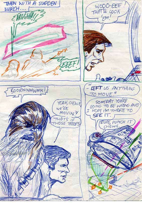 empire strikes back comic page