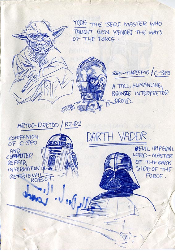 Who's Who—Yoda, 3PO, R2-D2, Darth Vader