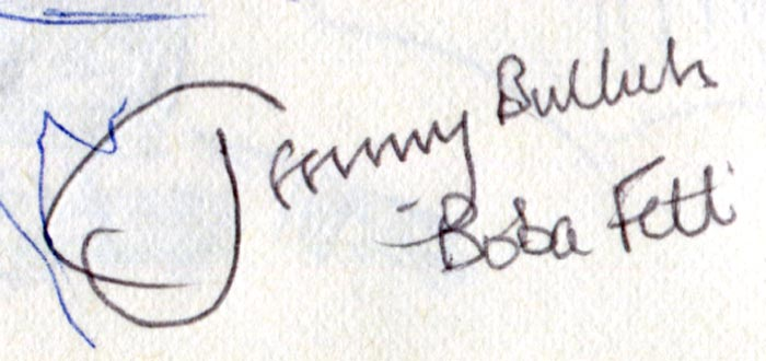Jeremy Bulloch autograph