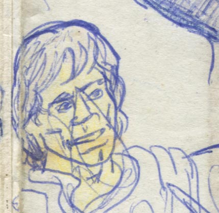 luke skywalker drawing scribbled on by a baby