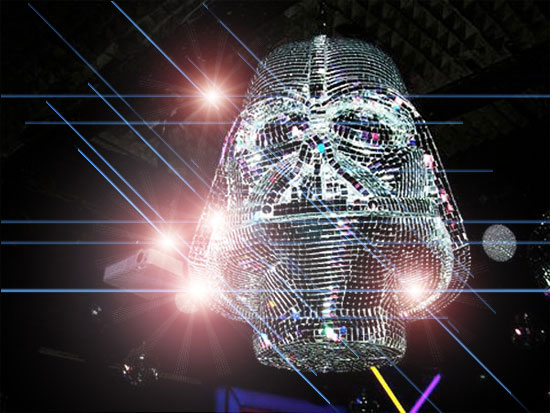 darth vader disco mirror ball