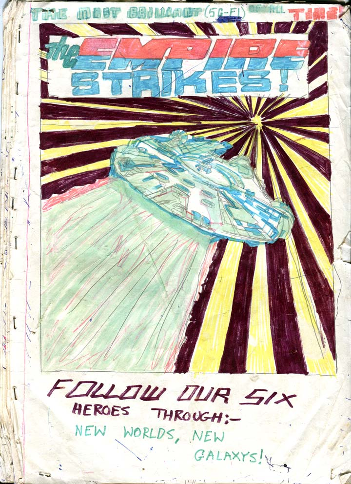 Front cover of a kid's sequel to 'Star Wars' c.1978/79. Copied from Carmine Infantino.