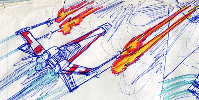 star wars comic detail luke's X-wing fighter