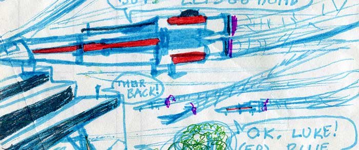 star wars comic detail x-wings return to the temple base on Yavin