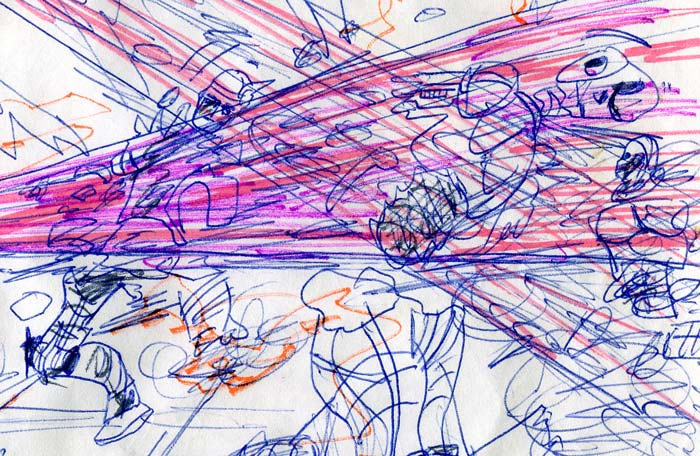 rebel droids being destroyed—kid's Star Wars comic page detail