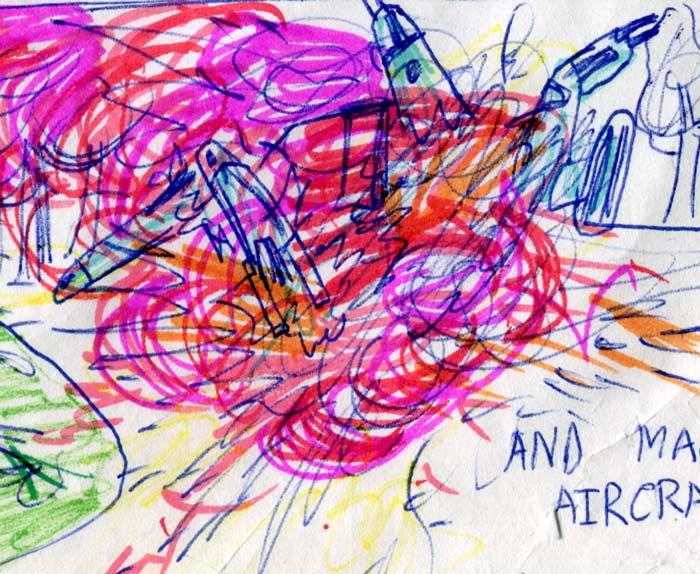 Blowing up X-Wings and Y-Wings—detail of a Kid's Star Wars comic page