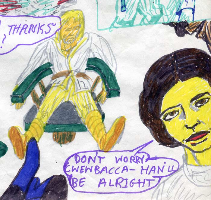 unhappy luke—kids' star wars comic page image detail