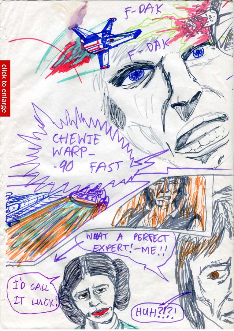 """16: """"Chewie—warp 90—fast!"""""""