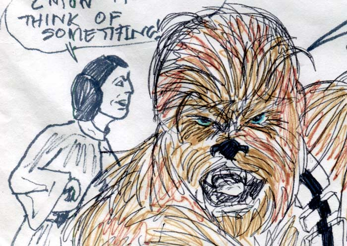 chewie han and leia—kids' star wars comic page image detail