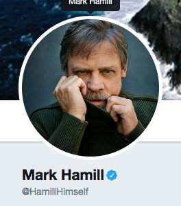 mark hamill on twitter avatar profile pic