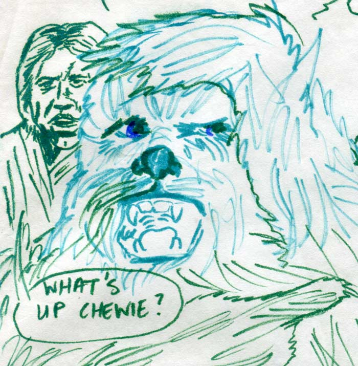 chewbacca groaning—kids' star wars comic page image detail